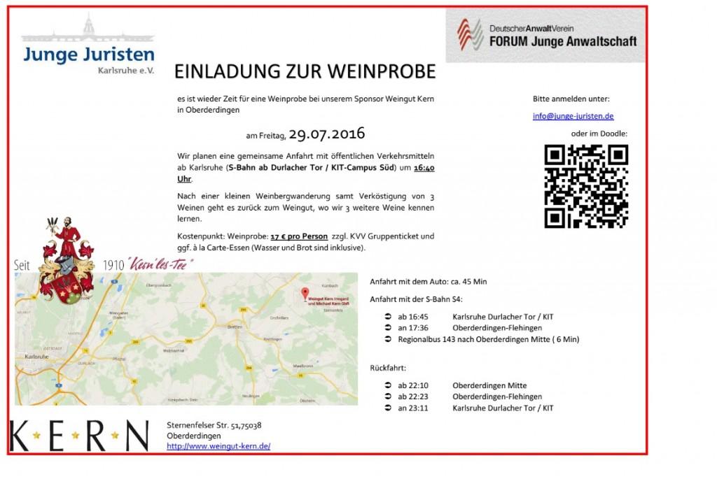 Flyer Weinprobe Kern 2016